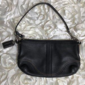 Coach Wristlet Black Leather, medium